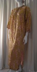 1960's Rose pink and gold lame full length vintage kaftan **SOLD**